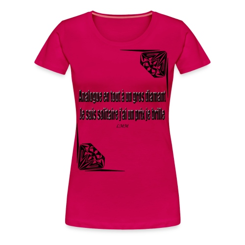 T-shirt femme rose Solitaire - T-shirt Premium Femme