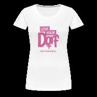 T-Shirts ~ Frauen Premium T-Shirt ~ Frauen Rosa Glitzer