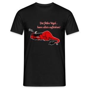 Drachi Dragon müde rot/red Männer T-Shirt Frontdruck - Männer T-Shirt