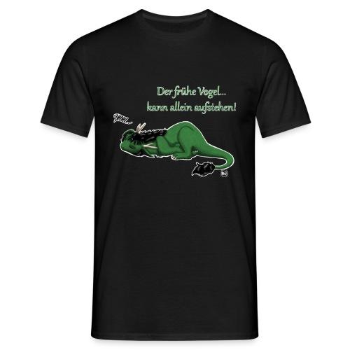 Drachi Dragon müde grün/green MännerT-Shirt Frontdruck - Männer T-Shirt