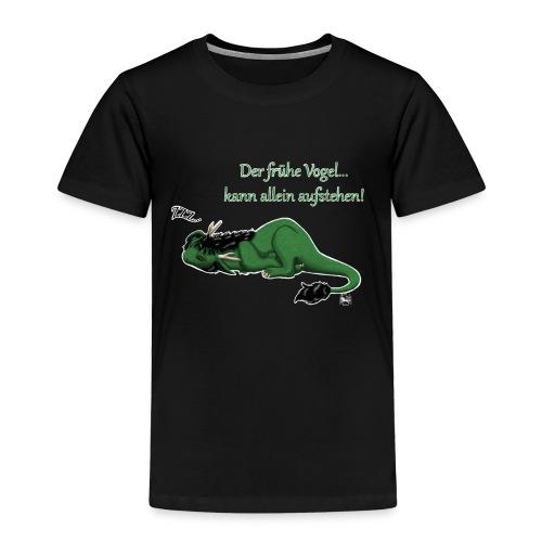 Drachi Dragon müde grün/green KinderT-Shirt Frontdruck - Kinder Premium T-Shirt