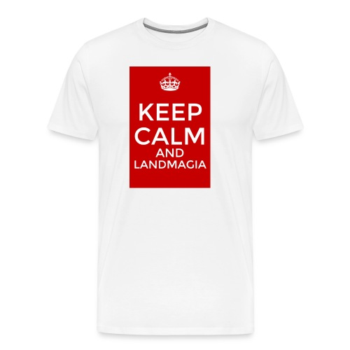 Keep Calm T-Shirt White - Maglietta Premium da uomo