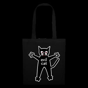 stofftasche, evil cat - Stoffbeutel