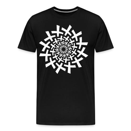 Mandala Hole White  - Men's Premium T-Shirt
