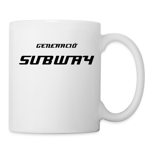 subway_cat mug - Taza