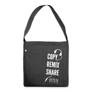 copy remix share - Schultertasche aus Recycling-Material