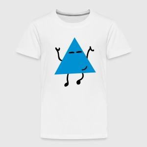 dancing hipster triangle dansende hipster trekant T-shirts - Børne premium T-shirt