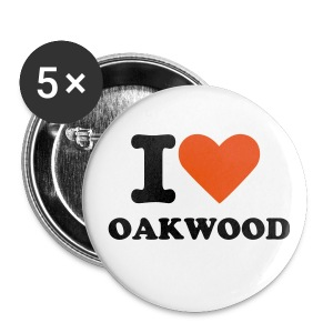 I love Oakwood badges (5 pack) - Buttons small 25 mm