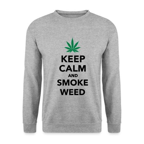 Keep calm and smoke weed sweater - Men's Sweatshirt