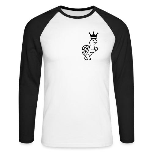 Turtle King Baseball T - Men's Long Sleeve Baseball T-Shirt