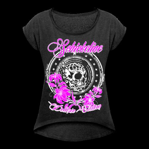 Schickeline Skull Shirt Cool - Frauen T-Shirt mit gerollten Ärmeln