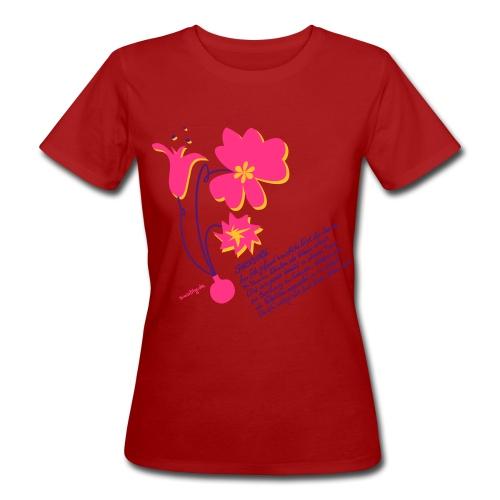 Sinas Flowerpower - Frauen Bio-T-Shirt