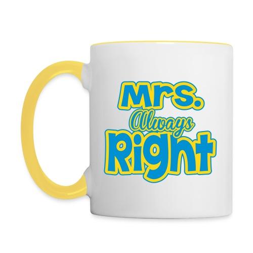 Mrs Right Mug - Contrasting Mug