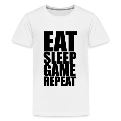 Eat Sleep Game Repeat - Teenage T-Shirt - Teenage Premium T-Shirt