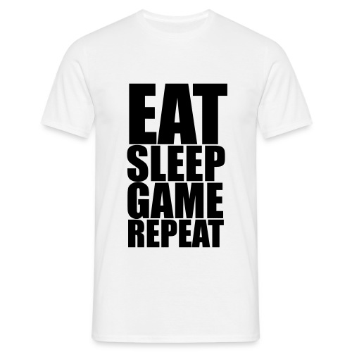 Eat Sleep Game Repeat - Men's T-Shirt - Men's T-Shirt