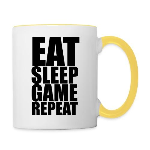 Eat Sleep Game Repeat - Contrast Mug - Contrasting Mug