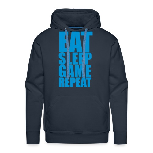 Eat Sleep Game Repeat - Men's Hoodie - Men's Premium Hoodie