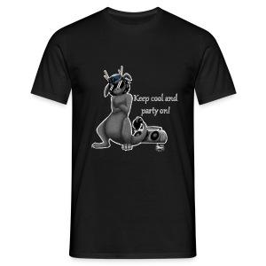 Keep cool- Drachi Dragon grau/grey MännerT-Shirt Frontdruck - Männer T-Shirt