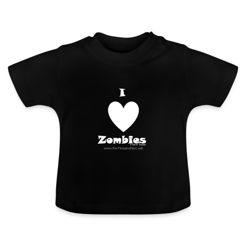 Baby's T Shirt - I Love Zombies, Zombies Loves Brains - Baby T-Shirt