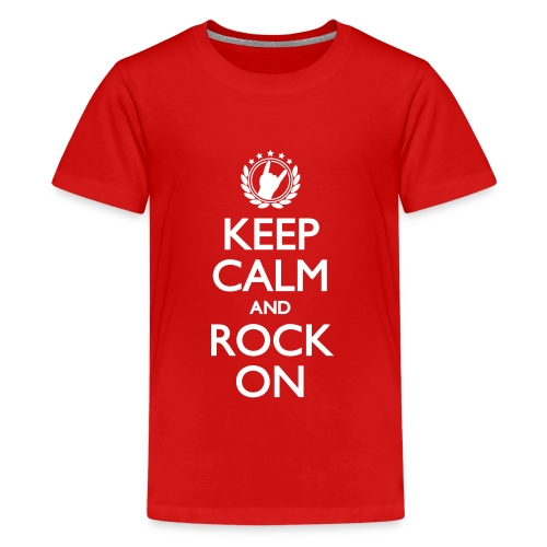 Keep Calm And Rock On - Teenager Premium T-Shirt