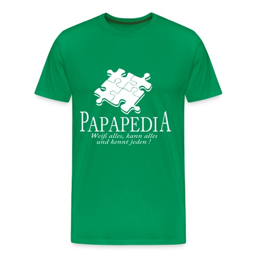 Papapedia - Männer Premium T-Shirt