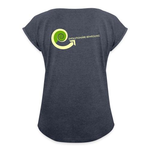 evolution t-shirt - Frauen T-Shirt mit gerollten Ärmeln