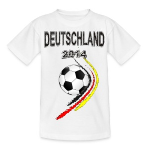 Fußball Fan T-shirt Deutschland - Teenager T-Shirt