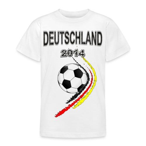 Fußball Fan T-shirt Deutschland - Teenager T-Shirt