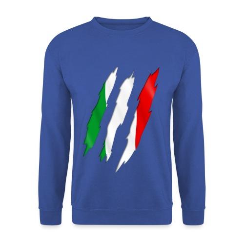 Felpa azzurra con Tricolore - Felpa da uomo