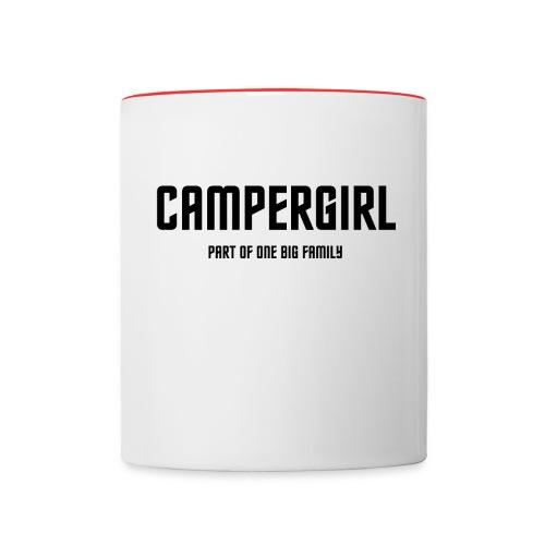 Tasse: Campergirl - Tasse zweifarbig