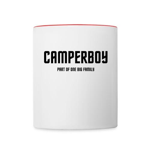 Tasse: Camperboy - Tasse zweifarbig