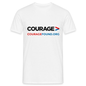 Courage Men's T-Shirt (white) - Men's T-Shirt