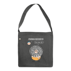 Wuscheligkeit - Schultertasche aus Recycling-Material