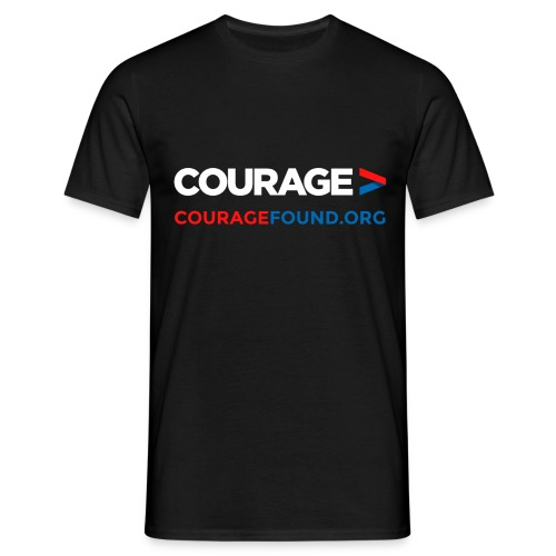 Courage Men's T-Shirt (black/colour) - Men's T-Shirt