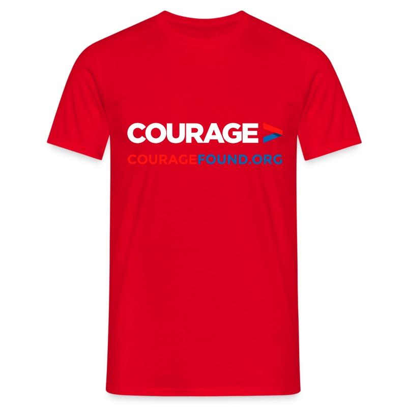 Courage Men's T-Shirt (black/colour) T-Shirt | Courage Foundation UK
