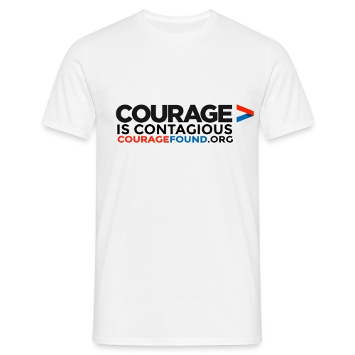 Courage is Contagious Men's T-Shirt - Men's T-Shirt