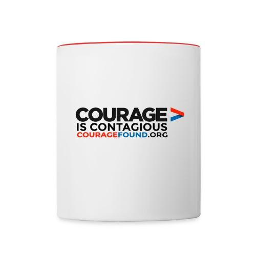 Courage is Contagious Mug - Contrasting Mug