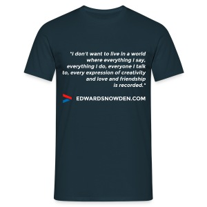 Snowden Quote Men's T-Shirt - Men's T-Shirt