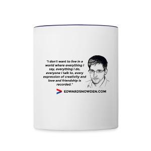 Snowden Quote Mug - Contrasting Mug