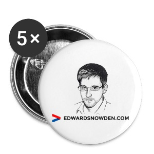 Edward Snowden Badges - Buttons large 56 mm