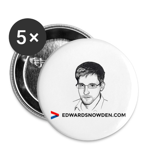 Edward Snowden Badges - Buttons large 2.2''/56 mm (5-pack)