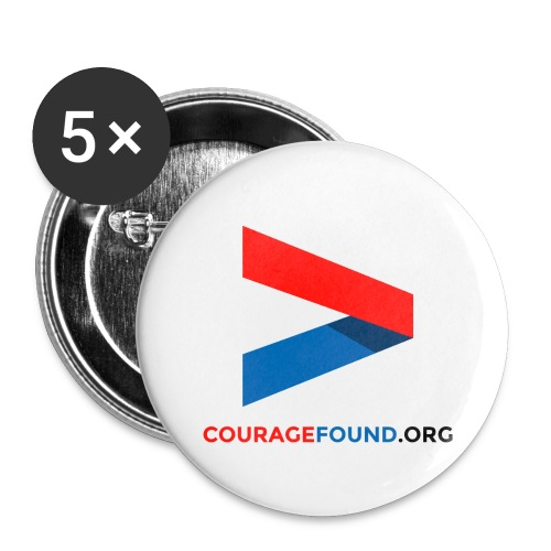Courage Icon Badges - Buttons large 2.2''/56 mm (5-pack)