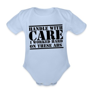 Handle with care! - Organic Short-sleeved Baby Bodysuit