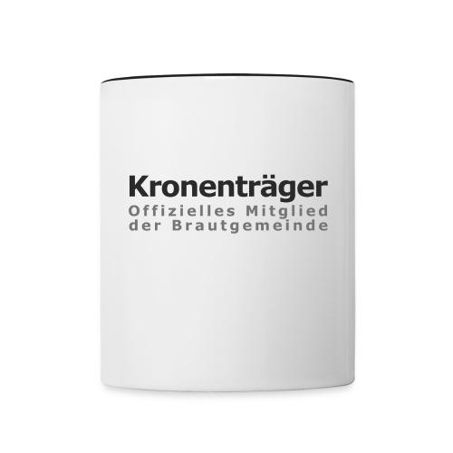 Kronenträger-Tasse - Tasse zweifarbig