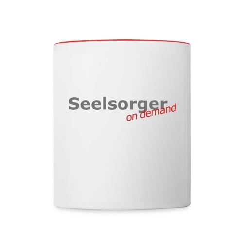 Tasse_Seelsorger - Tasse zweifarbig