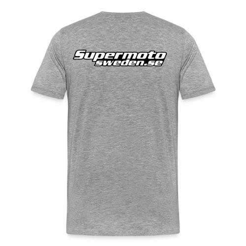 Supermotosweden supporter tee back - Premium-T-shirt herr