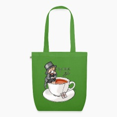 Leaf green tea time like a Sir with Earl Grey (text) Bags & Backpacks