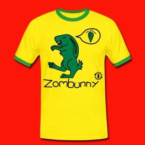 Zombunny Mens Ring Tee - Men's Ringer Shirt