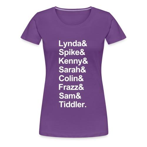 PG25 Series 2 Names Ladies tshirt - Women's Premium T-Shirt
