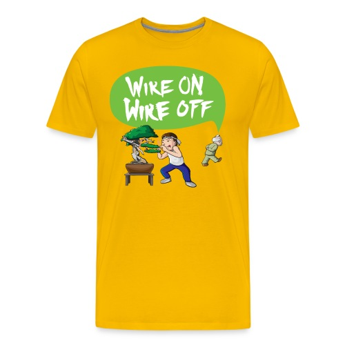 Wire On Wire Off Shirt Men - Men's Premium T-Shirt